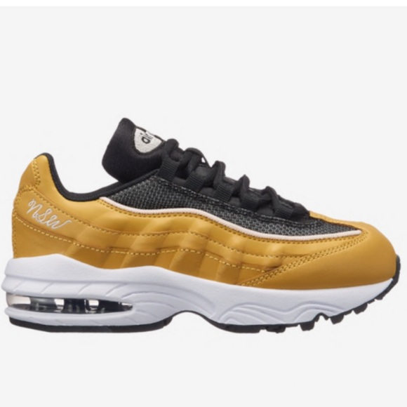 brand new b2b02 377f3 Nike Girls Youth Air Max 95 in Wheat Gold